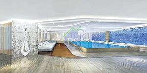 會所設室內恒溫泳池,住戶可全天候暢泳。(電腦模擬相)