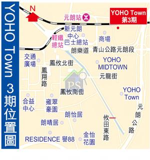 YOHO Town 3期位置圖