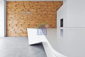 設計師選用了實木、夾板、玻璃纖維、環氧樹脂及無縫石等,打造他的年度代表作。