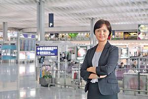機管局組織發展及人才管理總經理潘小紅指,MT與GE面試均很着重應徵者的溝通、分析能力,並需對航空業有熱誠。(陳智良攝)