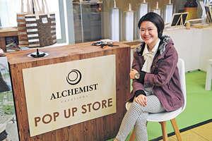 ALCHEMIST創辦人凌靜然認為,做老闆的最大挑戰是要學會信任員工,現在開始將一些項目全權交予員工跟進。(曾有為攝)