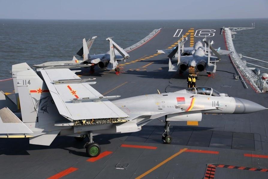 中國大陸航母遼寧艦沿台灣海峽中線以西,向北面返回基地,引起美國緊盯。