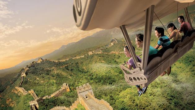 「翱翔‧飛越地平線」受旅客歡迎。(上海迪士尼官網圖片)