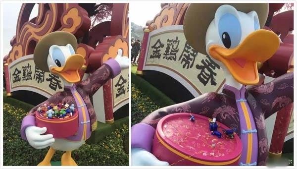 上海迪士尼日前出現「裝飾糖果」全被遊客拔光現象。