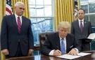 美國總統特朗普今天宣布美國退出跨太平洋夥伴協定TPP。