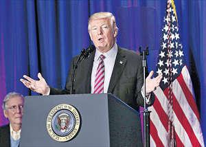 美國總統特朗普往往以簡單的建議去解決複雜的問題,這些政見主張會否損害美國整體國家利益,值得深究。(法新社資料圖片)