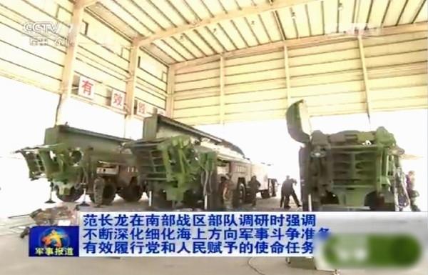 東風-16新型中近程導彈的運載車。