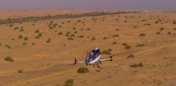 中東國家杜拜政府宣布,中國研製全球首款載客無人機Ehang 184 ,將在今年7月於當地投入商業運作。
