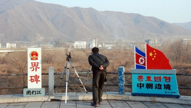 中國與北韓邊境。
