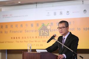 財政司司長陳茂波表示,隨港息有機會逐步上升,樓市面對風險會逐步加大,現階段未有條件及空間可減辣或撤招。