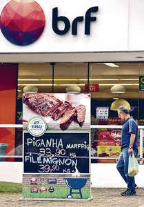 警方搗破肉食企業貪污案,並拘捕超過30人,包括最大豬肉出口商BRF的高層。圖為該公司門市。(路透社圖片)