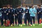 南韓隊在賽前集訓。