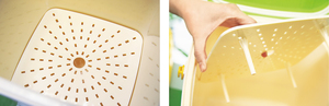 活動式隔渣底板,用來隔走發酵後的液態肥。