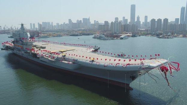 中國首艘航母上個月26日下水,預計2020年才能服役