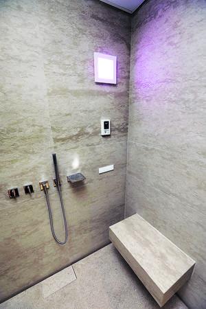 主人套房配備蒸氣房,住客可享受蒸氣浴放鬆身心。(本刊攝影組)
