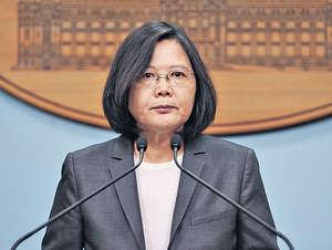 台灣的蔡英文總統執政周年,惟民調滿意度嚴重下滑,陷入管治危機。(中央社資料圖片)