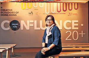 Confluence.20+設計展策展人周婉美喜見近年港人愈來愈喜歡參與文藝活動,冀大眾可由打卡開始學習鑑賞。(陳偉能攝)