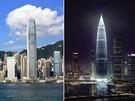 大灣區戰略被指將提升粵港合作,圖左為香港,圖右為深圳。