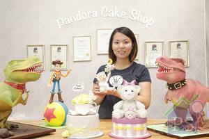 Pandora Cake Shop創辦人梁頌珊創作出一個個栩栩如生的3D蛋糕,更奪得下英國Cake International 2015及2016兩屆金獎。