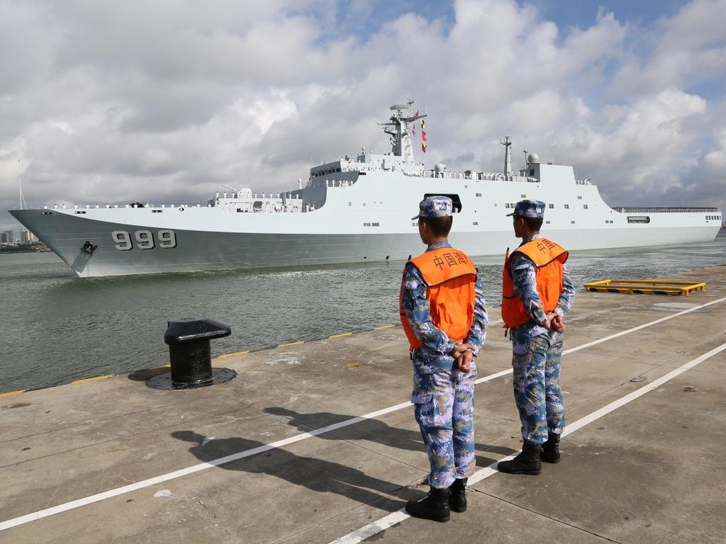 中國軍艦啟程前往吉布提。