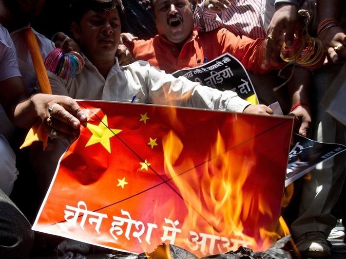 印度反華情緒高漲。