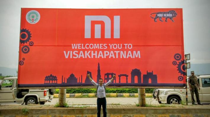 小米攻印度市場的廣告。