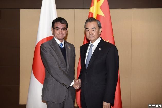 中日外長昨天在菲律賓馬尼拉出席東盟外長會議期間會面。