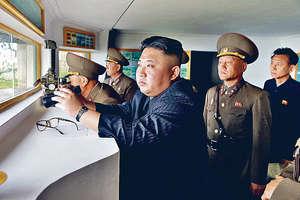 北韓對美國的警告嗤之以鼻,更聲言只有利用絕對力量才可與美方溝通。圖為北韓領袖金正恩。(路透社資料圖片)