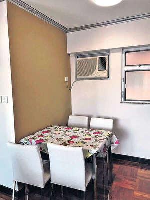 飯廳設有對流窗,有助空氣流通。