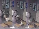 女乘客在出口通道手扶電梯前、準備登梯出站時,井蓋板突然破碎,女子直接跌落集水井。