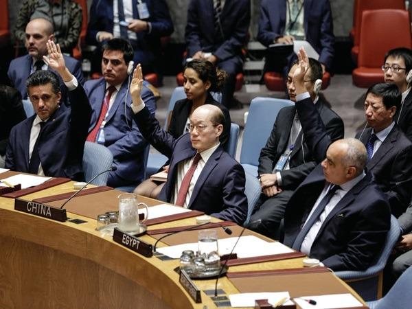 中國常駐聯合國代表劉結一在對北韓的新一輪制裁措施上,投贊成票。