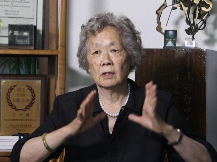 「天安門母親」創辦人丁子霖因心臟病緊急送院。(維基百科)