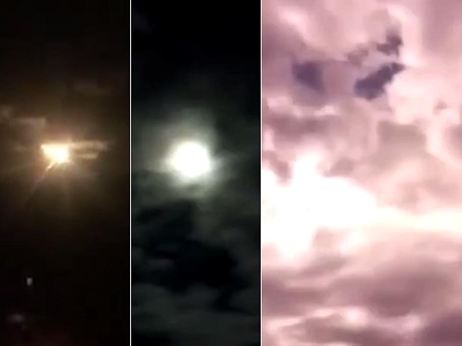雲南省昨晚中秋夜多雲有雨,無法賞月,但晚間8時許卻突然出現一顆隕石劃破天際。