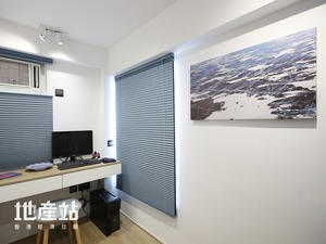 屋主以西伯利亞的積雪風景相放大,並沖晒成為16:9的掛畫。