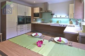 可提供免費廚房設計服務的晉利有限公司,從丹麥引入智能廚房設備,令廚房枱面、鋅盆、高櫃及餐枱等,也可靈活地電動升降。