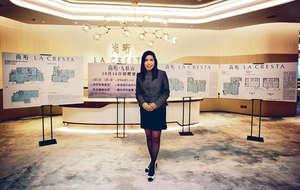 香港興業銷售及市務助理總經理陳秀珍昨公布沙田尚珩首張銷售安排,下周一標售12伙分層單位,不設指引價。(梁偉榮攝)