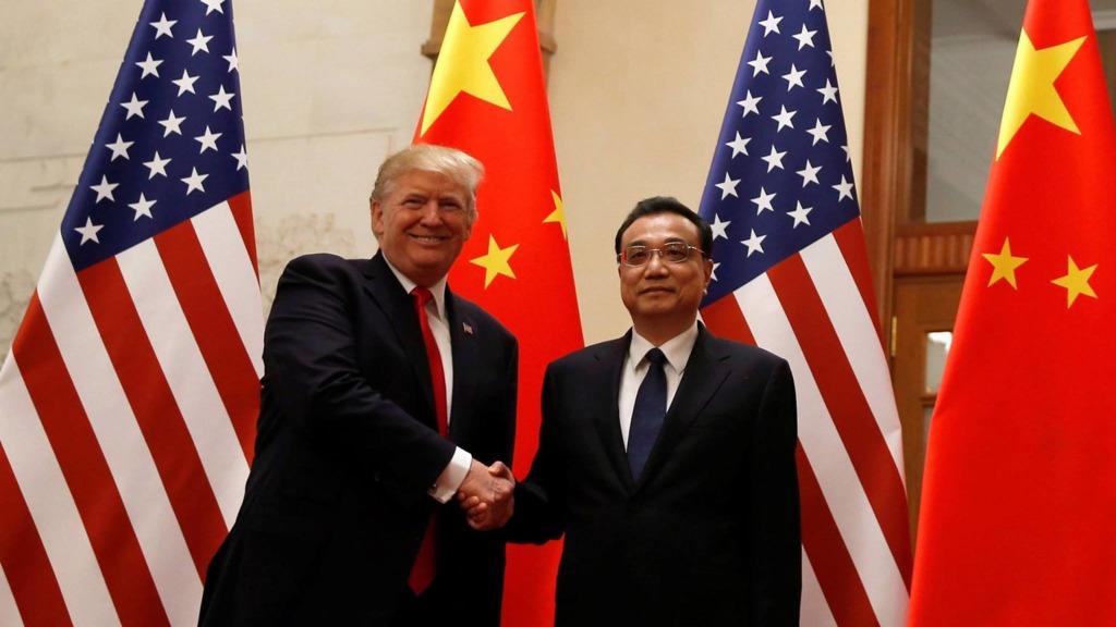 正在中國訪問的美國總統特朗普,下午與國務院總理李克強會面。