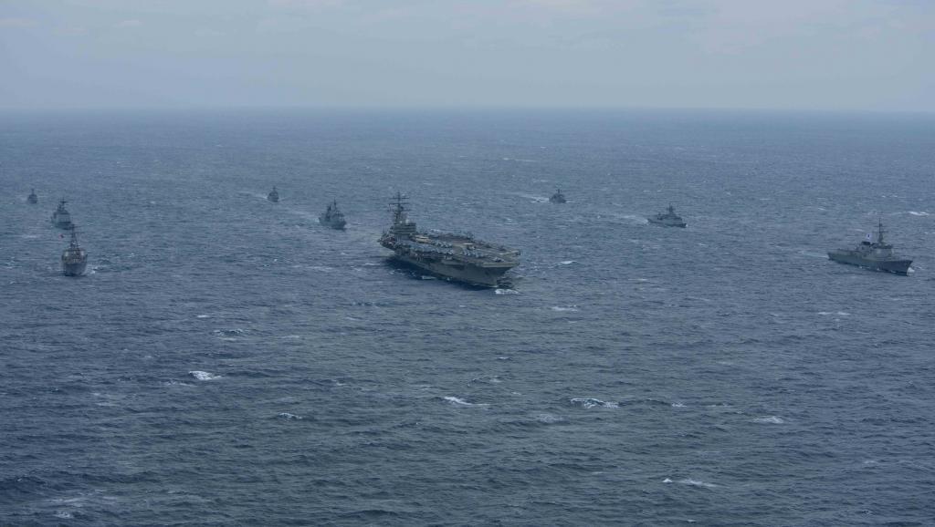 美國列根號航母進入亞太,中美角力升級。