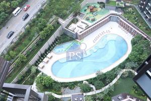 單位可享內園泳池景。