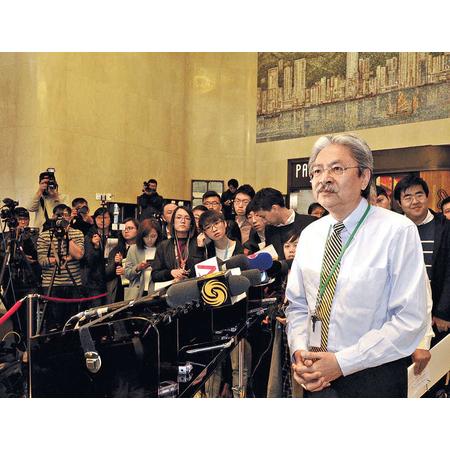 行政長官參選人曾俊華曾於香港眾籌平台FringeBacker發起競選眾籌計劃。(本報資料室)