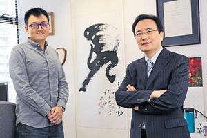 港大電機電子工程學系教授李安國(右)及博士畢業生溫豪夫,2015年創辦Fano Labs,研發語音識別人工智能技術,助企業提高客戶服務質素。(陳國峰攝)
