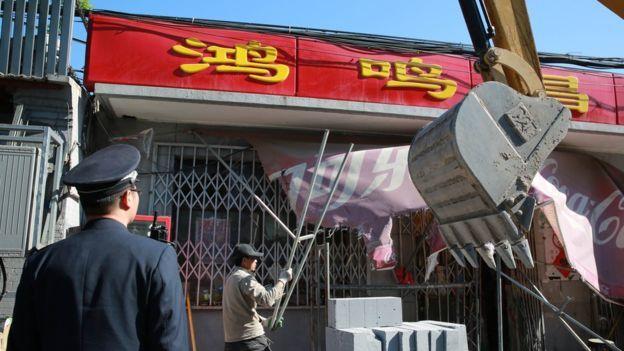 北京清退「僭建物」行動,引發輿論反彈。