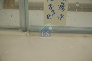 浴屏門底的玻璃膠未完全封口,導致有水從淋浴間漏出。