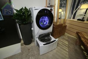 最新推出TWINWASH-G洗衣機,將頂揭式及前置式洗衣機結合。