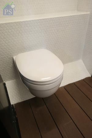 掛牆式座廁有助提升視覺空間。