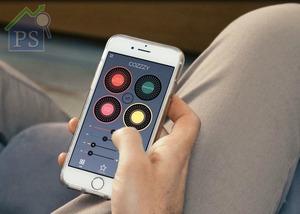 客人可透過手機應用程式遙距操控,例如微調風力強弱,還有香薰膠囊(長效60小時)的香味濃度等。
