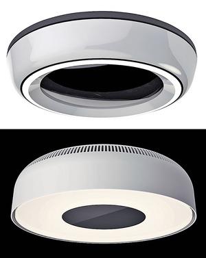 配備嶄新無綫充電技術的天花燈,有不同款式選擇,圓形設計亦夠百搭。(相片由被訪者提供)