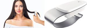 【Hair analyzer】德國Henkel Beauty Care成立Schwarzkopf Professional SalonLab後,同步推出智能頭髮分析系統。透過支援藍牙傳輸的紅外綫感測器(如手機般大),可分析每個人從髮根至髮端的濕度、髮質及真實顏色等有用數據,再經由應用程式顯示並紀錄下來,協助髮型師設計形象之餘,亦方便客人調製專屬的洗髮及護髮產品。(查詢:www.henkel.com)(相片由被訪者提供)