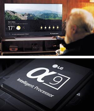 【4K OLED TV】韓國LG最新推出的高階OLED TV,升級至Alpha 9處理器,足夠處理AI人工智能系統甚至120fps HFR高速動態影像。內置Google Assistant及Amazon Alexa語音助理,同時支援LG ThinQ人工智能平台的4K OLED TV,還可自動偵測並記錄人的使用習慣與偏好,如搜尋你最喜歡的單曲及節目等,令電視機變成活生生的科技產物。(查詢:www.lg.com)(相片由被訪者提供)
