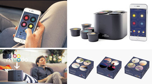 【Moodo】以色列初創品牌Moodo自家研發的智能香薰機,結合了咖啡膠囊的設計概念。機身設有4個不同顏色的膠囊凹槽,並內置風扇送出芳香。客人可透過手機應用程式遙距操控,如微調風力強弱,還有香薰膠囊(長效60小時)的香味濃度等。內置的鋰電池亦足夠使用長達7小時,同時支援Wifi無綫傳輸及Amazon Alexa語音助理。簡單而言,外表出眾的Moodo,比傳統蠟燭及香薰爐安全,令居室不再單調乏味。 (查詢:https://moodo.co)(相片由被訪者提供)